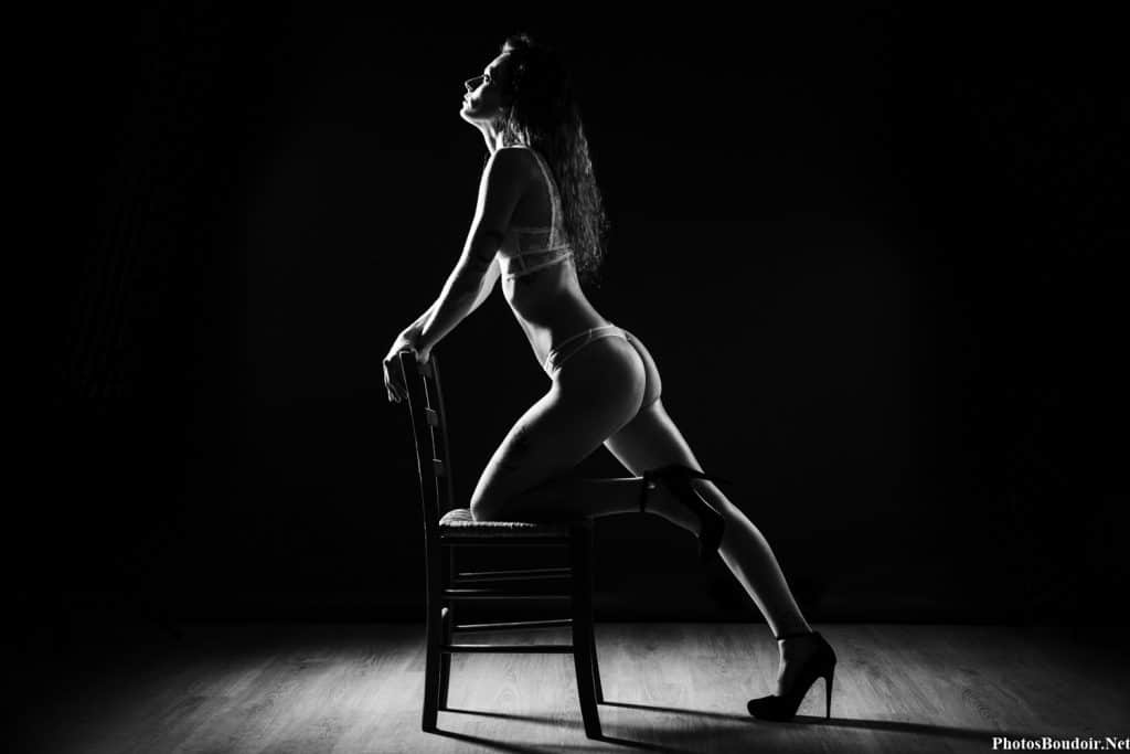 Photo Boudoir Noir et Blanc